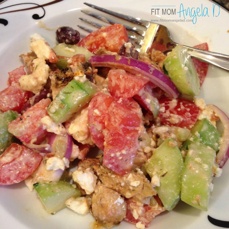 21 Day Fix Greek Chicken Souvlaki Salad