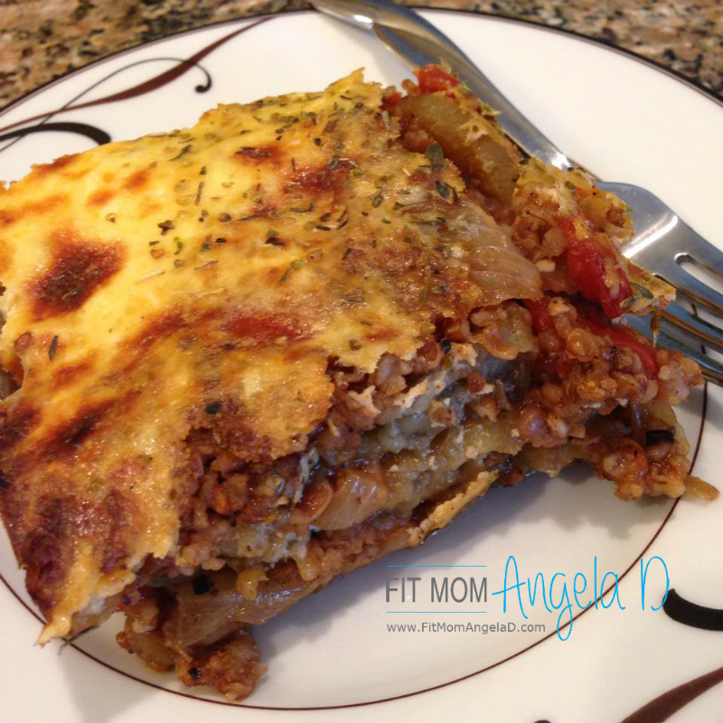 Vegetarian Moussaka Greek Lasagna Fit Mom Angela