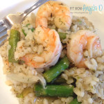 Greek Shrimp Asparagus Rizotto
