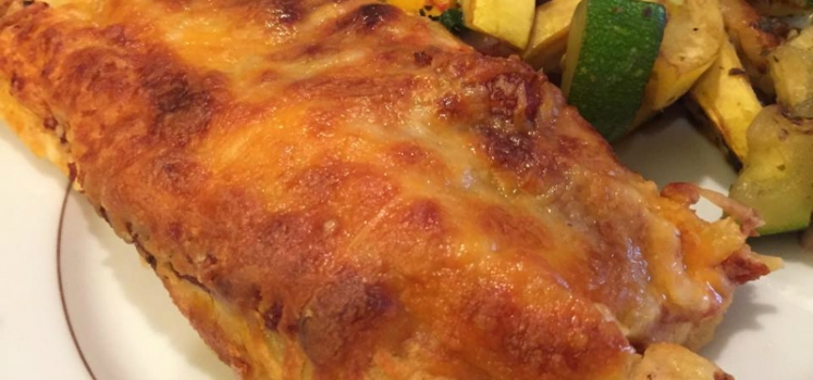 21 Day Fix Approved Cheesy Chicken Enchiladas