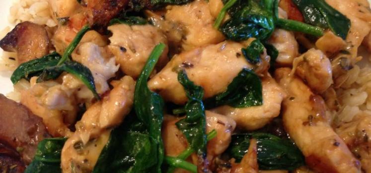 Chicken Spinach Saute