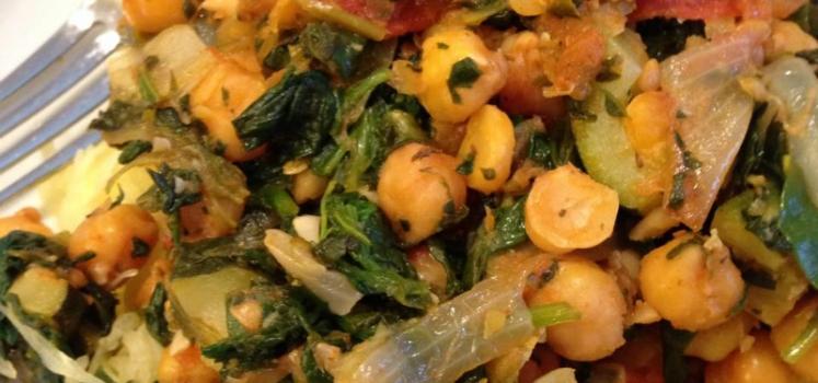 Chick Pea & Spinach Saute