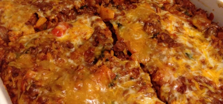 Beef & Brown Rice Taco Bake