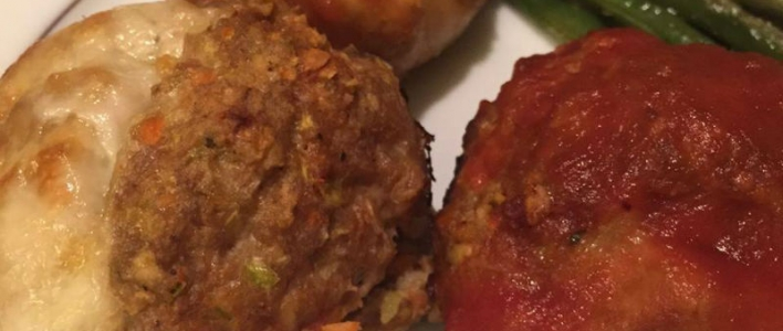 Turkey Mozzarella Meatloaf Muffins