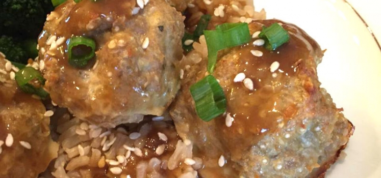 Turkey Quinoa Asian-Style Meatballs