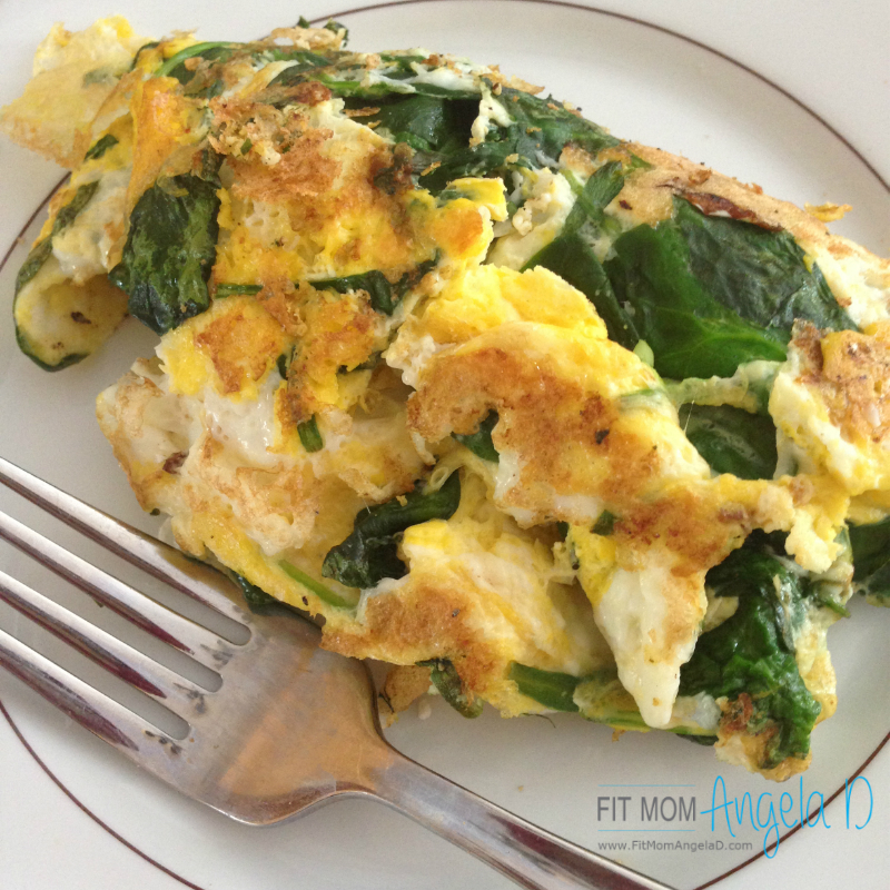 21 Day Fix Spinach & Feta Omelet