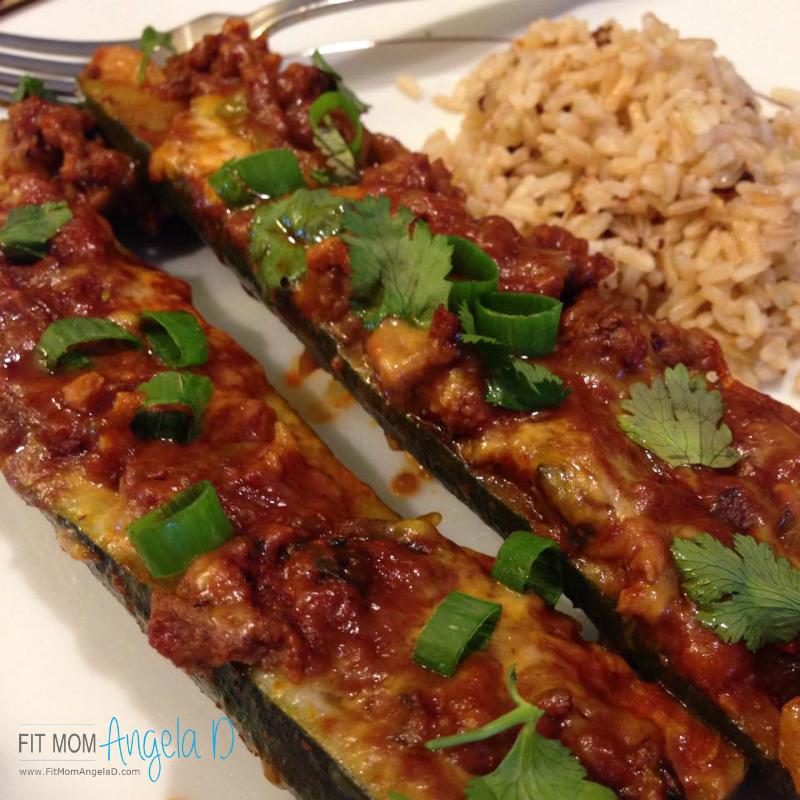 Ground Beef Enchilada Zucchini Boats
